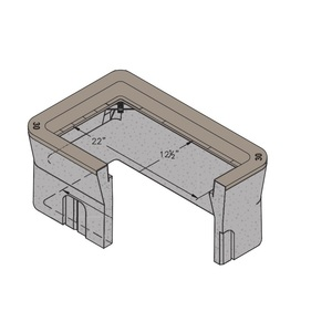 Oldcastle Precast 1000115 Rectangular Pull Box