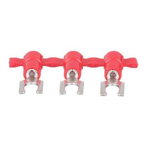 Panduit PV18-6LFB-3K Locking Fork Terminal, vinyl insulated,