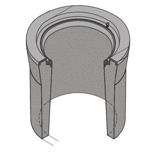 "Oldcastle Precast 1000415 Pull Box, Diameter: 10-3/8"", Height: 12"", Concrete"