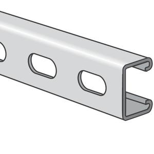 "Power-Strut PS500EH-10PG Channel - Elongated Holes, Steel, Pre-Galvanized, 1-5/8"" x 13/16"" x 10'"