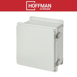 "nVent Hoffman A10106PHC Enclosure, NEMA 4X, Hinged Cover, 10"" x 10"" x 6"", Gray, PVC"