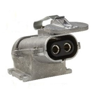 Clements National CBCR-2S-I Battery Charger Receptacle, 150A, 2/0 AWG, Solder, Less Contacts