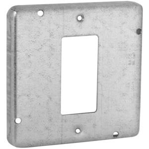 "Hubbell-Raco 856 4-11/16"" Square Exposed Work Cover, (1) GFCI/Decora Receptacle"