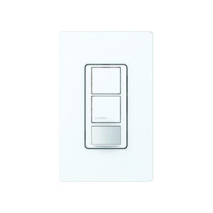 Lutron MS-PPS6-DDV-WH Dual-Circuit Switch, White