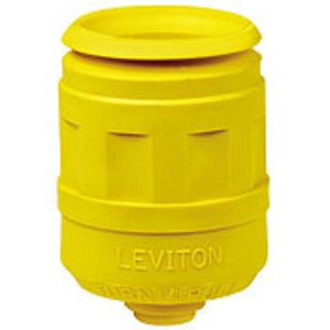 Leviton 6017-LY Boot for 15 Amp Locking Plug, Yellow
