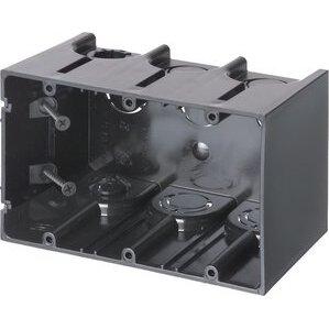 """Arlington F103 Switch/Outlet Box, 3-Gang, 3-1/2"""" Deep, Non-Metallic"""