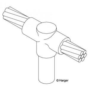 Harger Lightning & Grounding GO584/0B Cable to Ground Rod Connector