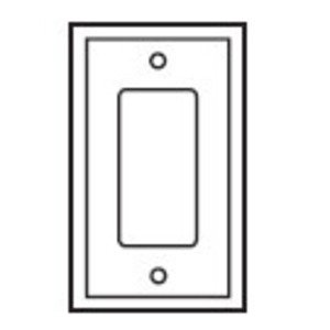 Eaton Wiring Devices PJ26W Decora Wallplate, 1-Gang, Plastic, White, Midsize