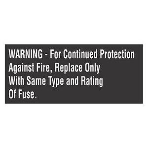 Panduit PLD-71 Label Dispenser, Polyester, 'Warning…'