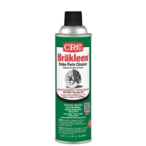 CRC 05151 The Brake Cleaner to use where compliance calls for a chlorine-free product. Formulated to quickly remove brake fluid, grease, oil, and other contaminants from brake linings & pads.