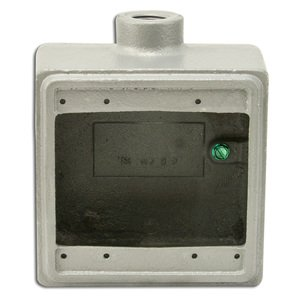 "Appleton FD2100 FD Device Box, 2-Gang, Dead End, Type FD, 1"", Malleable Iron"