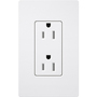 CAR-15TR-WH 15A RECEPTACLE TR WHITE