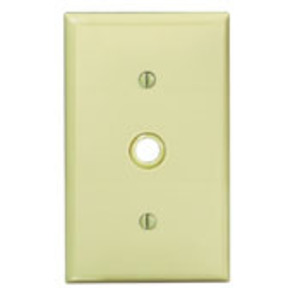 "Leviton 80718-GY Phone/Cable Wallplate, 1-Gang, .406"" Hole, Gray Nylon"