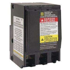 Square D QO3125SL Breaker, Sub-Feed Lug Kit, 3P, 125A, 3 Spaces, 12 - 2/0AWG