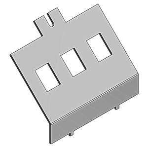 Steel City AFD-2-3RJ POWER/DATA PLATE