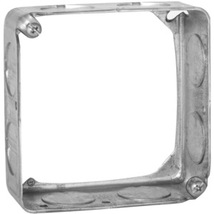 "Hubbell-Raco 202 4"" Square Extension Ring, 1-1/2"" Deep, Drawn, Metallic"