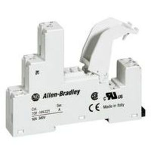 Allen-Bradley 700-HN221 Socket, 5-Blade, Miniature, 16A, 1P, 700-HK, Retainer Clips Incl.