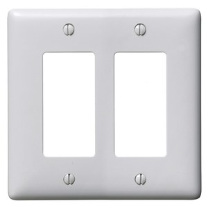 Hubbell-Wiring Kellems NP262OW WALLPLATE, 2-G, 2) RECT, OW