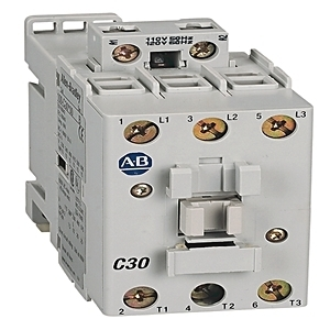 Allen-Bradley 100-C30EJ01 Contactor, IEC, 30A, 3P, 24VDC Electronic Coil w/Integrated Diode
