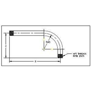 "Multiple GRC07590YARD 3/4"" Rigid Yard Elbow, 90°, Steel"