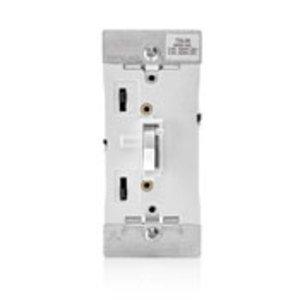 Leviton TSL06-1LW Toggle Dimmer, 600W, Locator Light, Toggle Touch, White