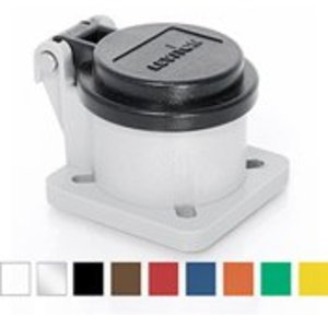Leviton 16S31-UCL Snap Back Cover, Plastic, For Male And Female Panel Receptacles, Clear