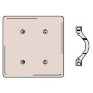 Hubbell-Wiring Kellems NP24I Blank Wallplate, 2-Gang, Standard, Nylon, Ivory, Strap Mount