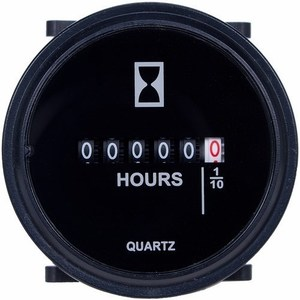 Intermatic GZ40AU Hour Meter, 10-80VDC, 59 Mm