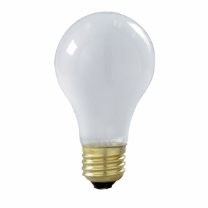 Satco S3971 Incandescent Bulb, A19, 100W, 130V, Frosted