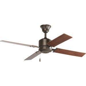 "Progress Lighting P2531-20 Paddle Fan, 4-Blade, 52"", Antique Bronze"