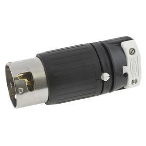 Hubbell-Kellems HBL3763C Non-NEMA Locking Plug, 50A, 250VDC/600VAC, 2P3W, Black