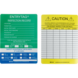 ENT-ETSI532 ENTRY TAG STD INSRTS 5 3/4X7