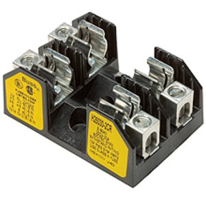 Eaton/Bussmann Series H25030-1CR Fuse Block, Class H, 1P, 1/10-30A, 250V, Box Lug with Clip/Spring
