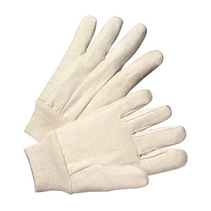 Protective Industrial Products 708 Glove, Premium Grade, Cotton Canvas, Single Palm, Knit Wrist