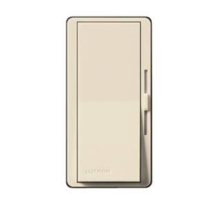 Lutron DVSTV-LA Fluorescent/LED Dimmer, Diva, Light Almond