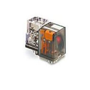 Tyco Electronics KRPA-11DG-24 Relay, Ice Cube, 8-Pin, 2PDT Contacts, 24VDC Coil, Enclosed