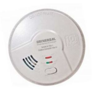 Universal Security Instruments MIC1509S Hardwired 3-in-1 Smoke, Fire, and Carbon Monoxide Detector