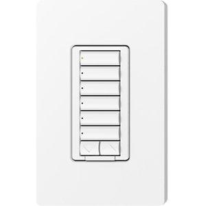 Lutron RRD-HN6BRL-SW RadioRA 2 Hybrid Keypad, Snow
