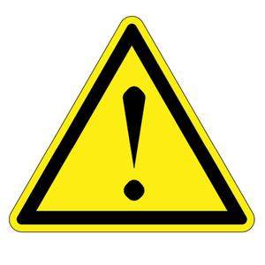 Panduit PESW-B-9Y ISO Label, Vinyl,'Risk of Danger symbol'