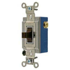 Hubbell-Wiring Kellems HBL1381 TOG, 15A 120/277V, SPDT CNTR OFF, BR