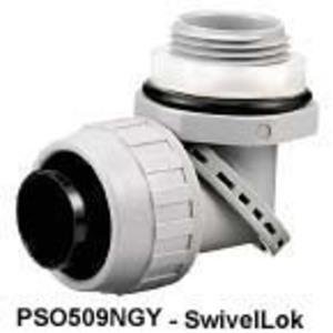 "Hubbell-Kellems PS0759NBK Swivel Male L/t Connector, 3/4"" , Nm, Bk"