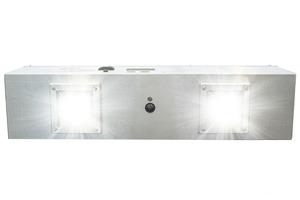 PURO Lighting H-F2-6-P-COM-110 Disinfecting Fixture Unit, Dual UV Light Engine, 6' Plug
