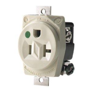 Eaton Wiring Devices 8310B Recp HG Sgl 20A 125V 2P3W Str B/Swire BR