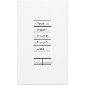 Lutron QSWS2-5BN-WH 5-Button Wallstation