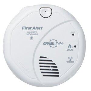 BRK-First Alert SA520B OneLink Smoke Alarm, 120V AC, Hardwired, White