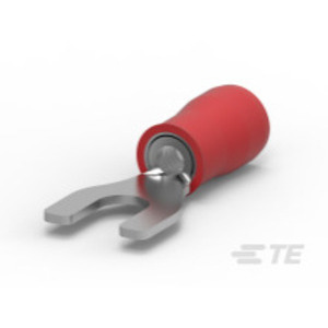 Tyco Electronics 32054 Spade Tongue Terminal, Nylon Insulated, 22 - 16 AWG, #10 Stud, Red