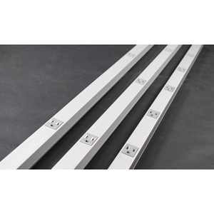 Wiremold AL20GBA612 Plugmold Outlet Strip, Steel, 10 Outlets, 6' Long