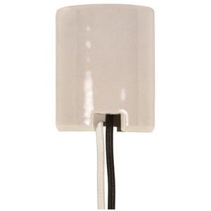 Satco 80-1751 Keyless Porcelain Mogul Socket 2 Bushings 8/32, 2 Wireways, 1/2'' Strip Leads