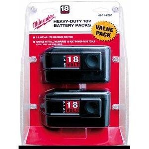 Milwaukee 48-11-2232 18V 2.4 Ah Capacity Battery - 2-Pk