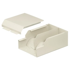 Hubbell-Kellems HBL4710DFOIV Metal Raceway, Entrance End Fitting, Ivory
